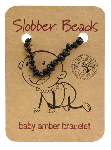 Amber Baby Teething Bracelet (Cherry Oval)