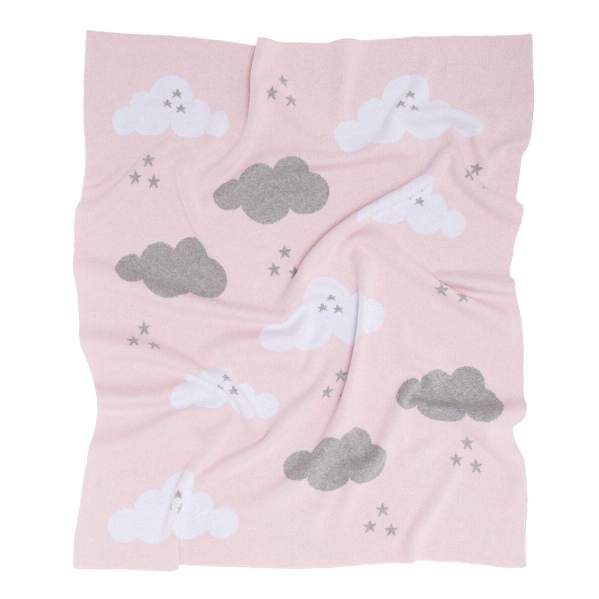 Clouds Baby Blanket (Pink)