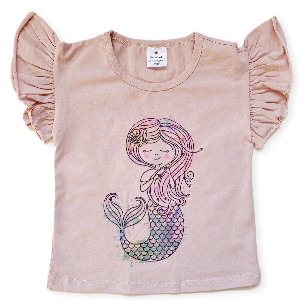 Mermaid Flutter Tee