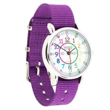 EasyRead Watch Purple Strap (Rainbow)