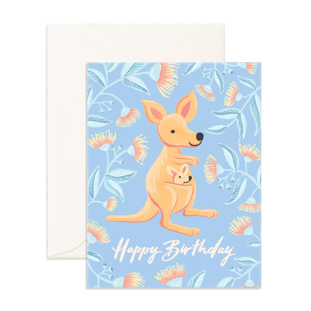 Birthday Kangaroo Greeting Card