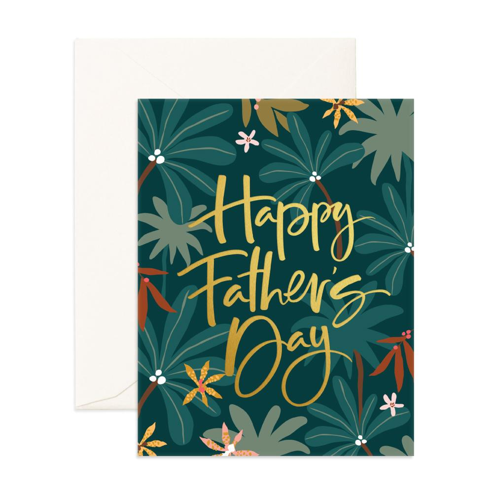 Fathers Day Jungle Greeting Card