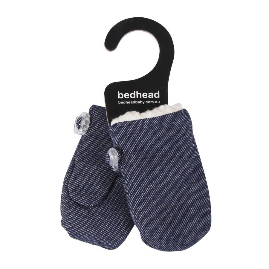 Fleecy Infant Mittens (Denim)