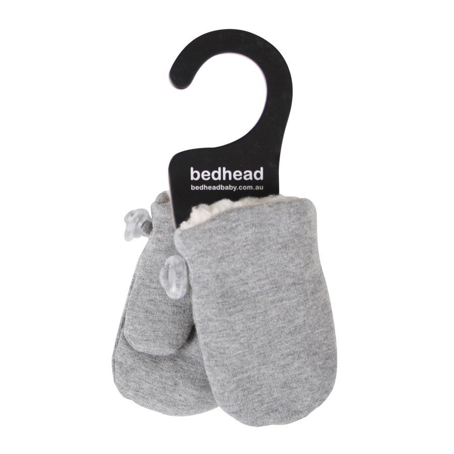 Fleecy Infant Mittens (Grey Marle)