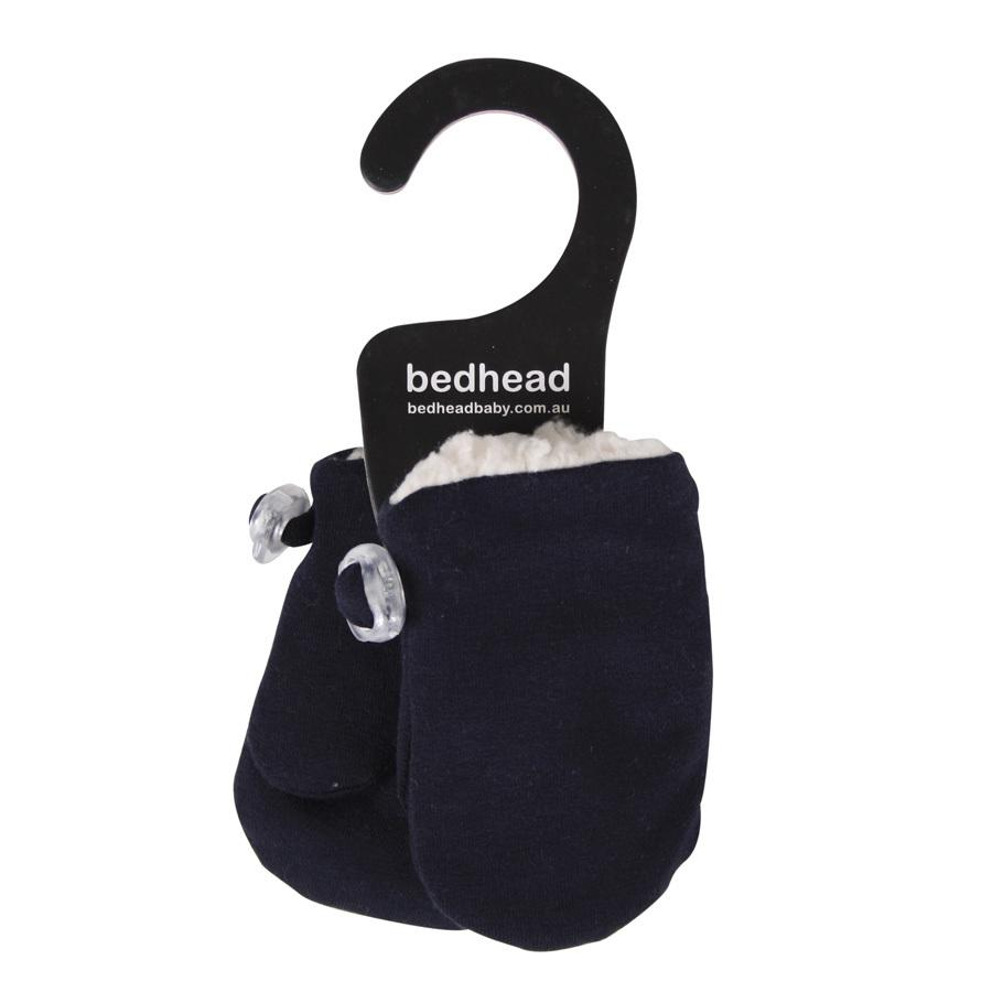 Fleecy Infant Mittens (Navy)