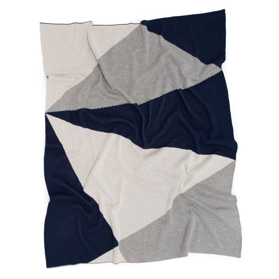 Geo Baby Blanket (Navy/Natural)