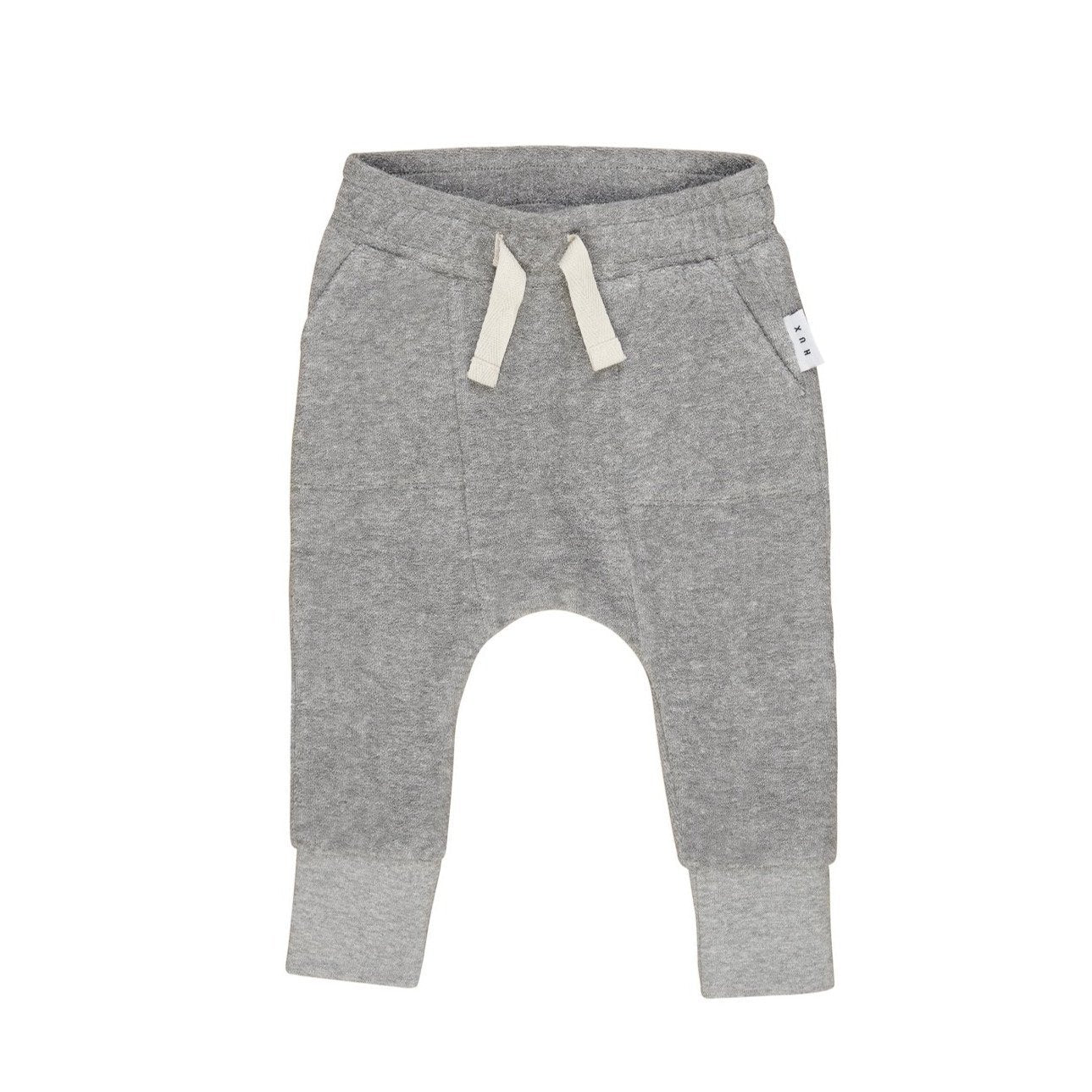 Grey Pocket Drop Crutch Pants