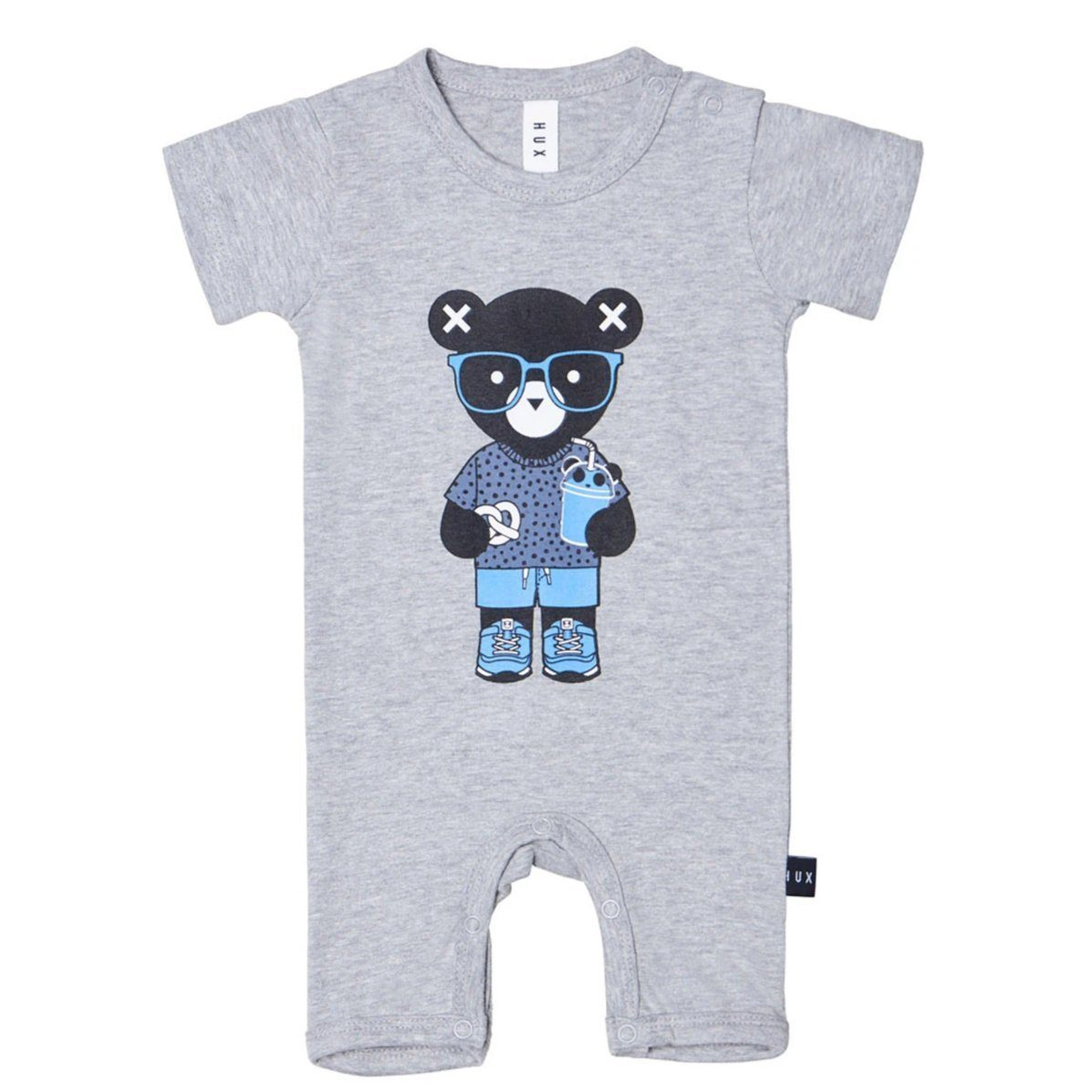 Huxbear Grey Short Romper