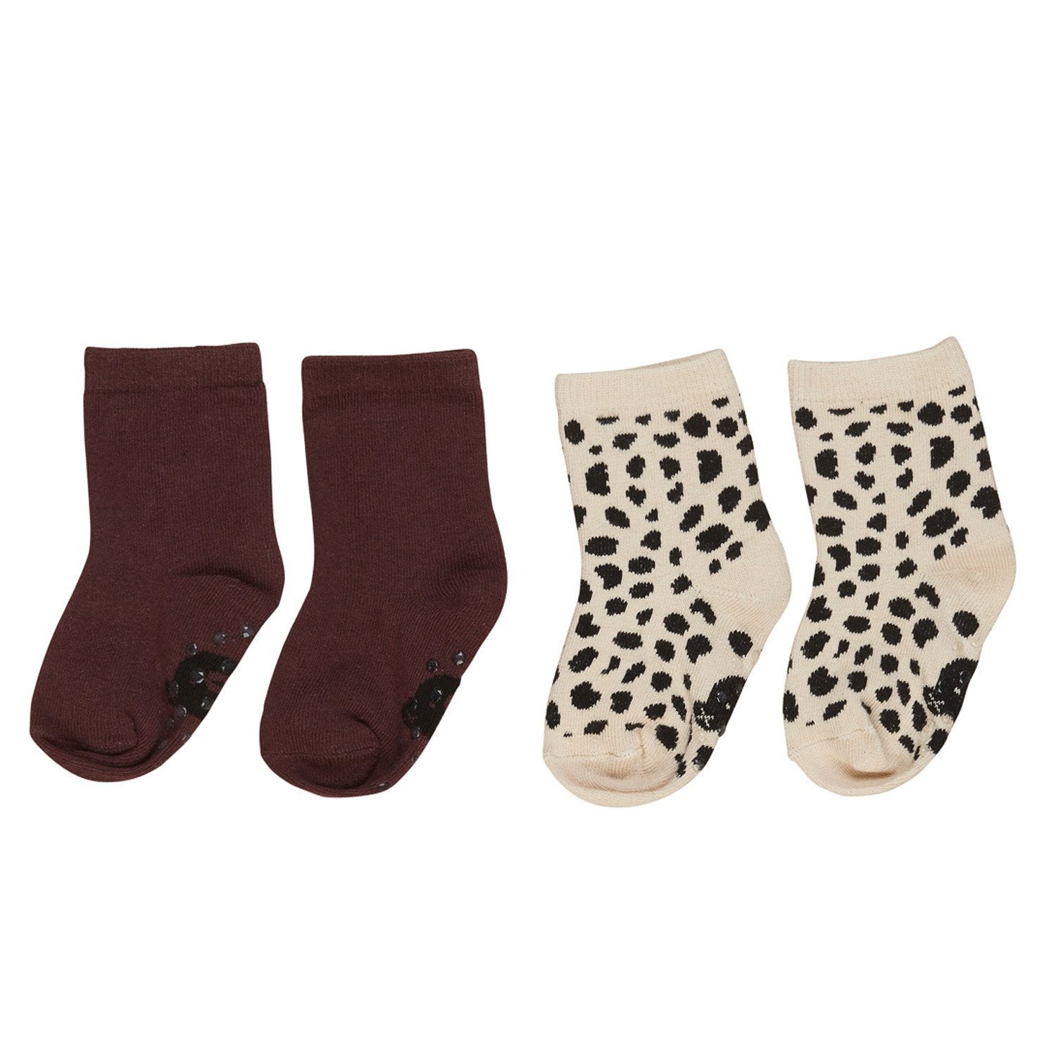 Burgundy Animal Socks (2 Pk)