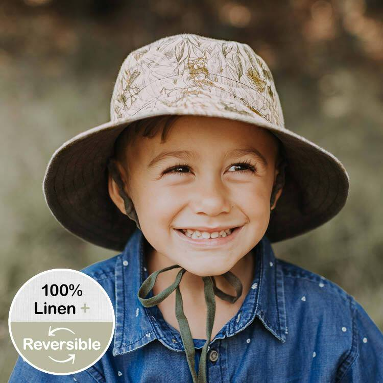 Kids Reversible Sun Hat (Mallee/Olive)