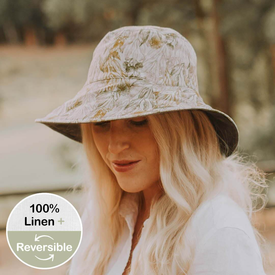 Ladies Reversible Sun Hat (Mallee/Olive)