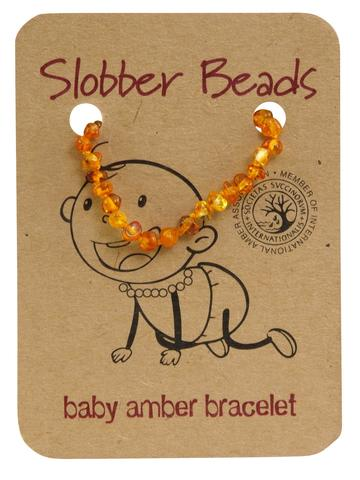 Amber Toddler Teething Bracelet (Honey Round)