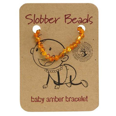 Amber Baby Teething Bracelet (Honey Round)