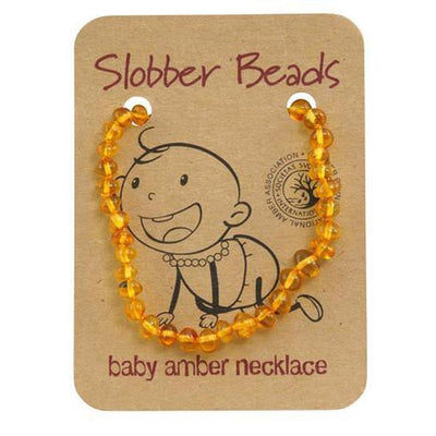 Amber Baby Teething Necklace (Honey Round)