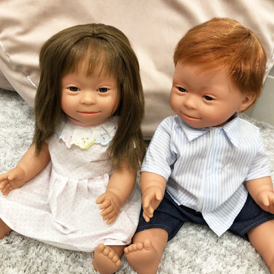 Down Syndrome Baby Girl Doll (Brown)