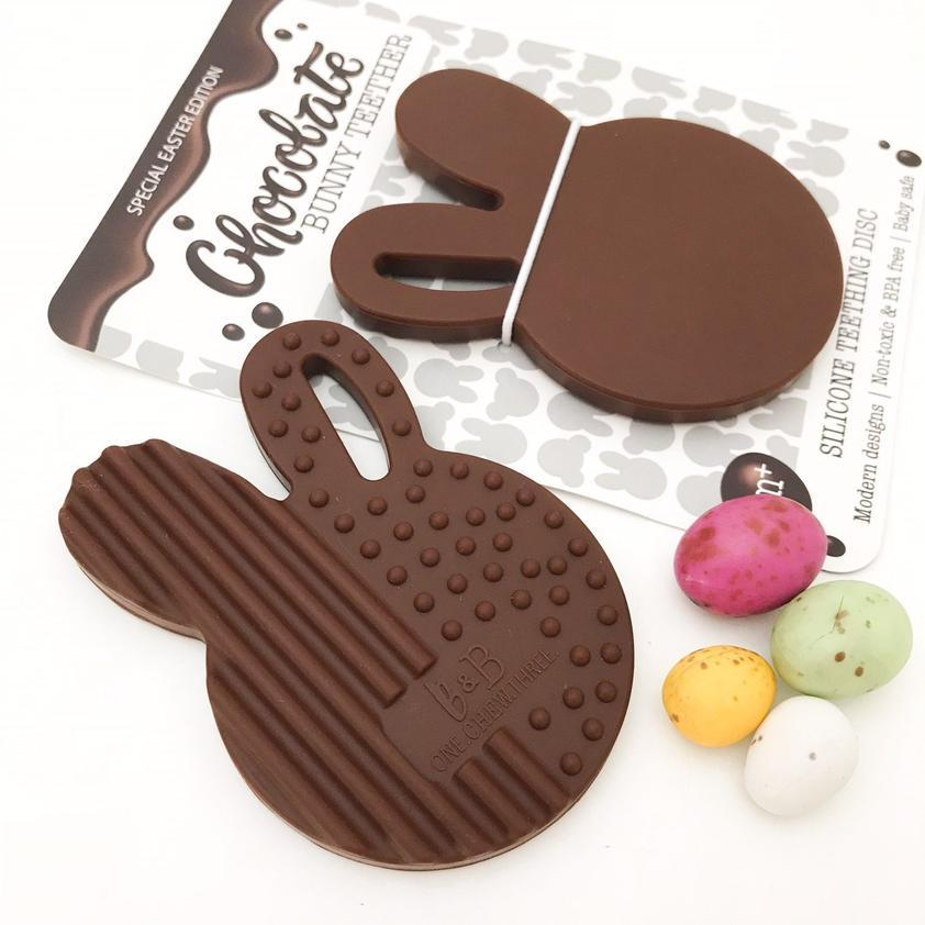 Easter Edition Chocolate Bunny Teether (Brown)
