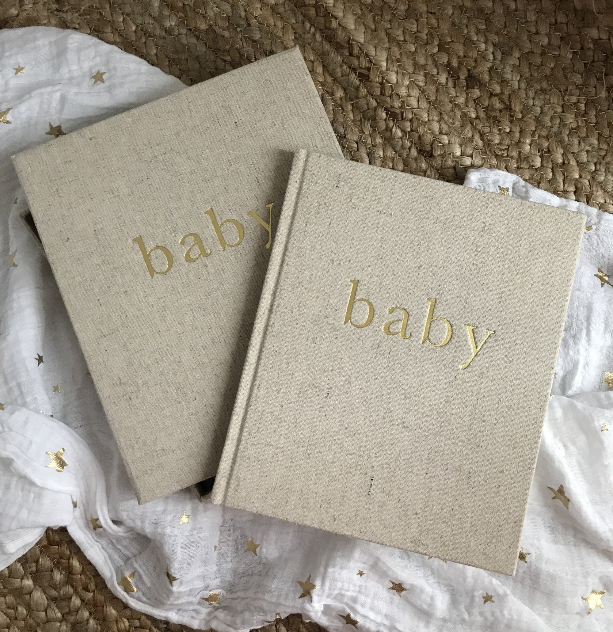 Baby Journal Boxed (Natural/Gold)