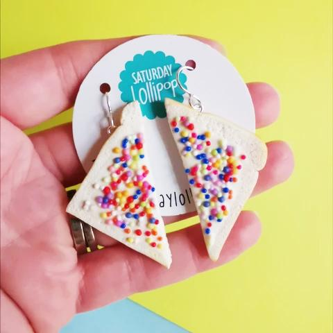 Fairy Bread Dangley Earrings