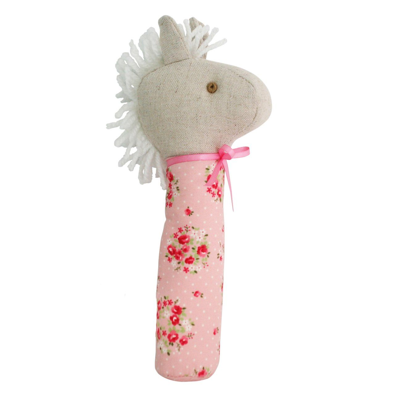 Horse Squeaker (Pink Floral Wreath)