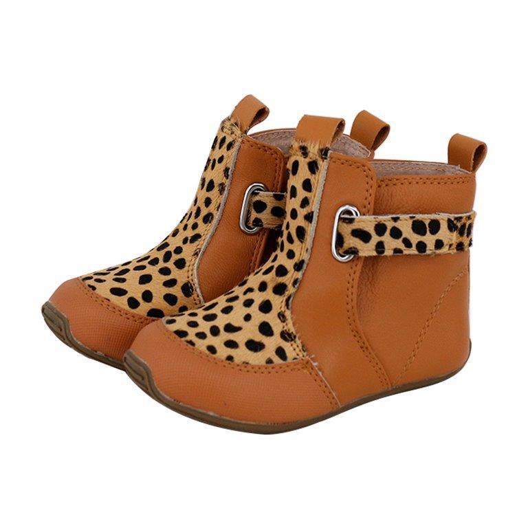 Cambridge Boots (Leopard Tan)
