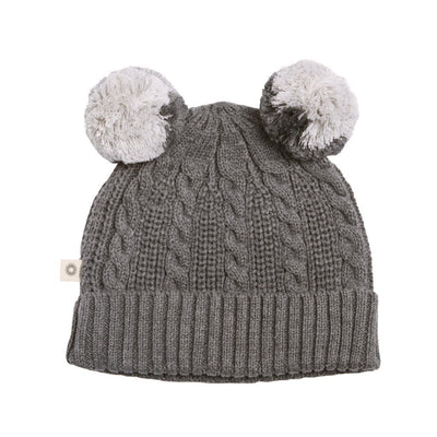 Cable Beanie (Ash Grey)
