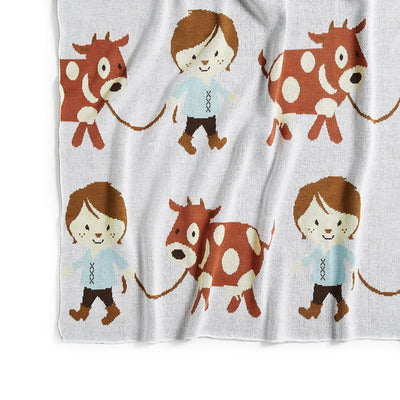 Jack and the Beanstalk Cot Blanket