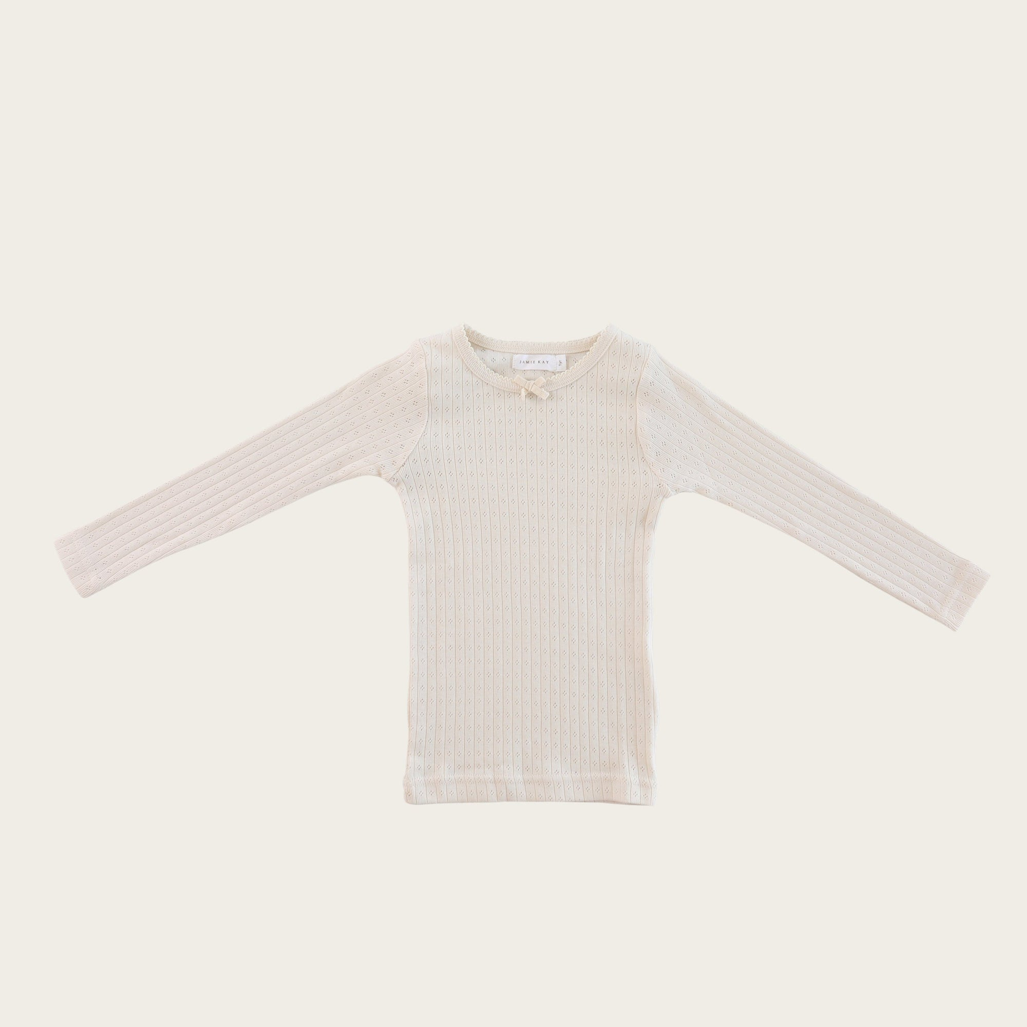 Pointelle Lace Top (Ivory)