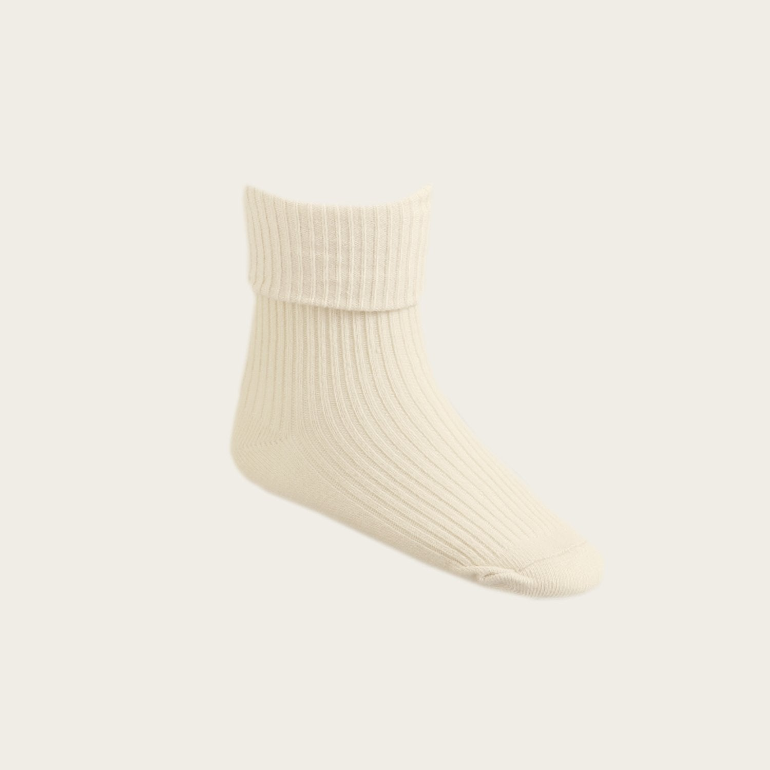 Ribbed Socks (Macadamia)