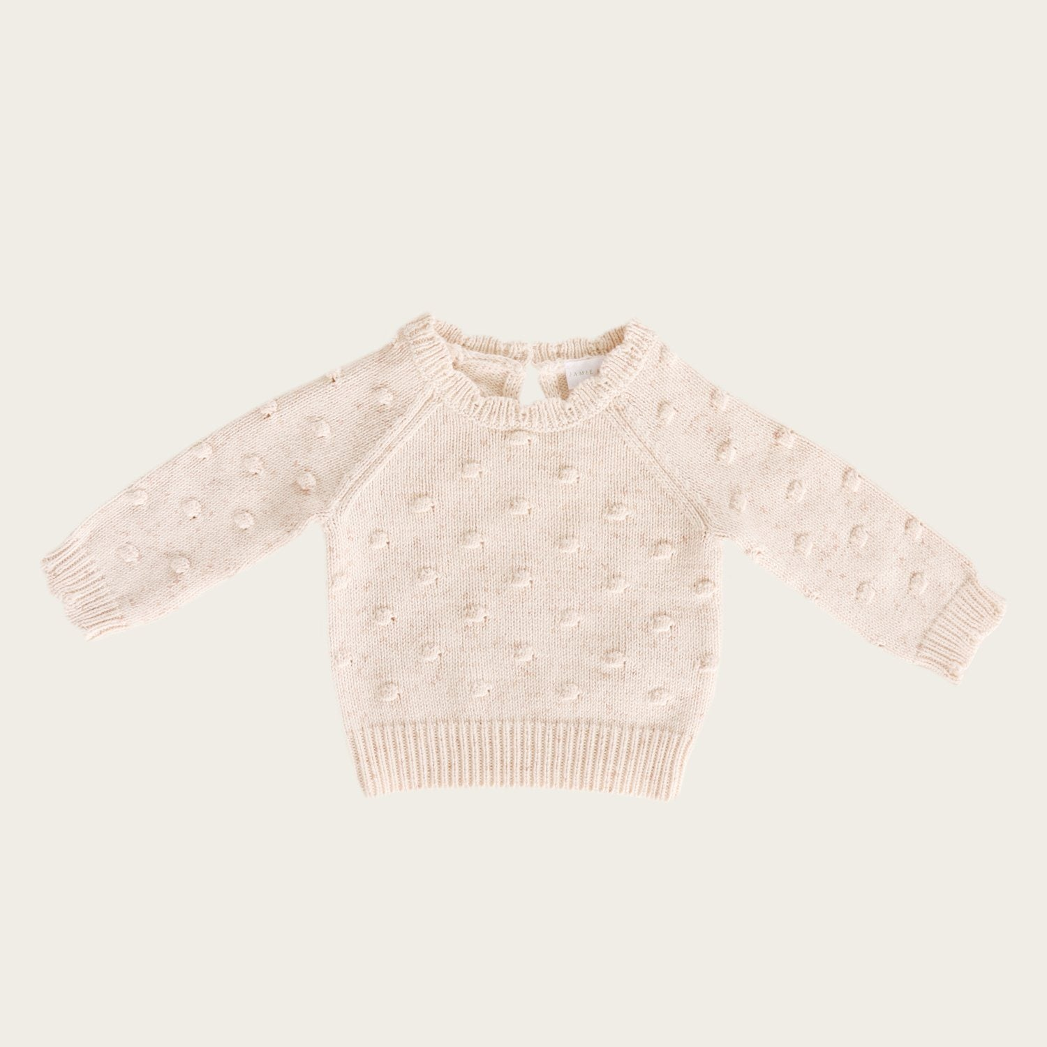 Dotty Knit (Apricot Fleck)