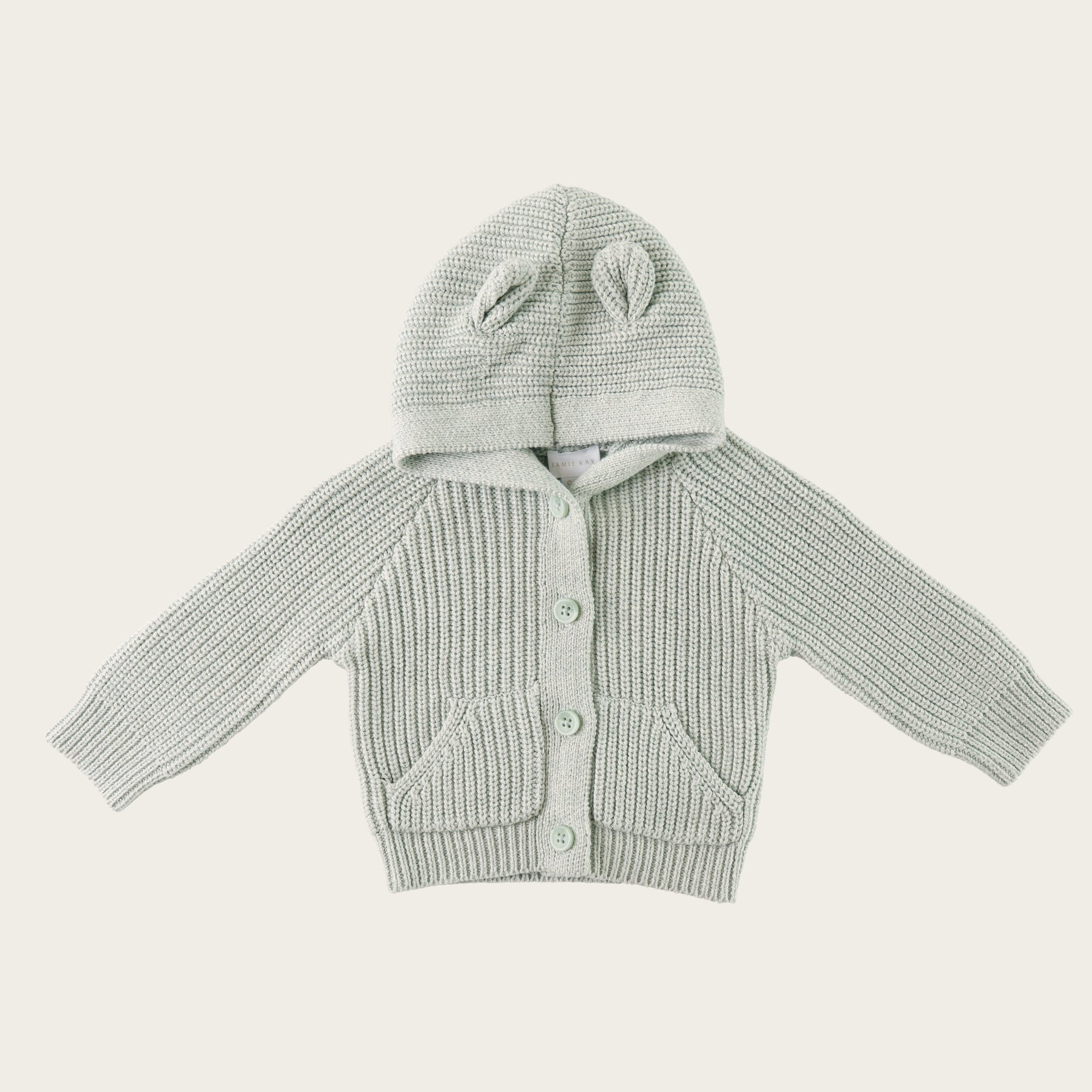 Bear Cardigan (Smoke Marle)