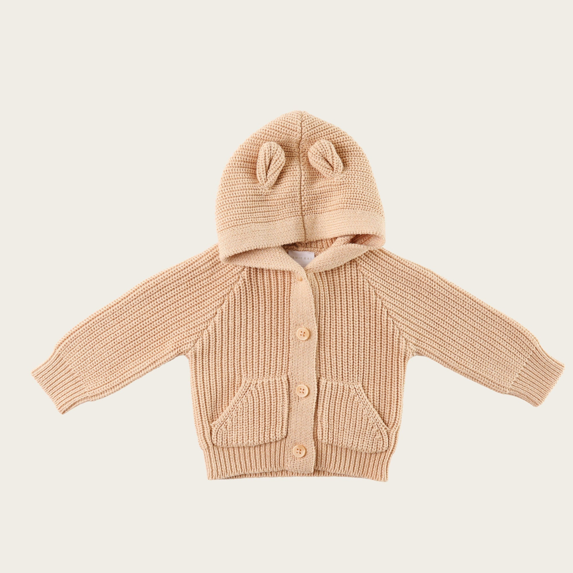 Bear Cardigan (Wheat Marle)