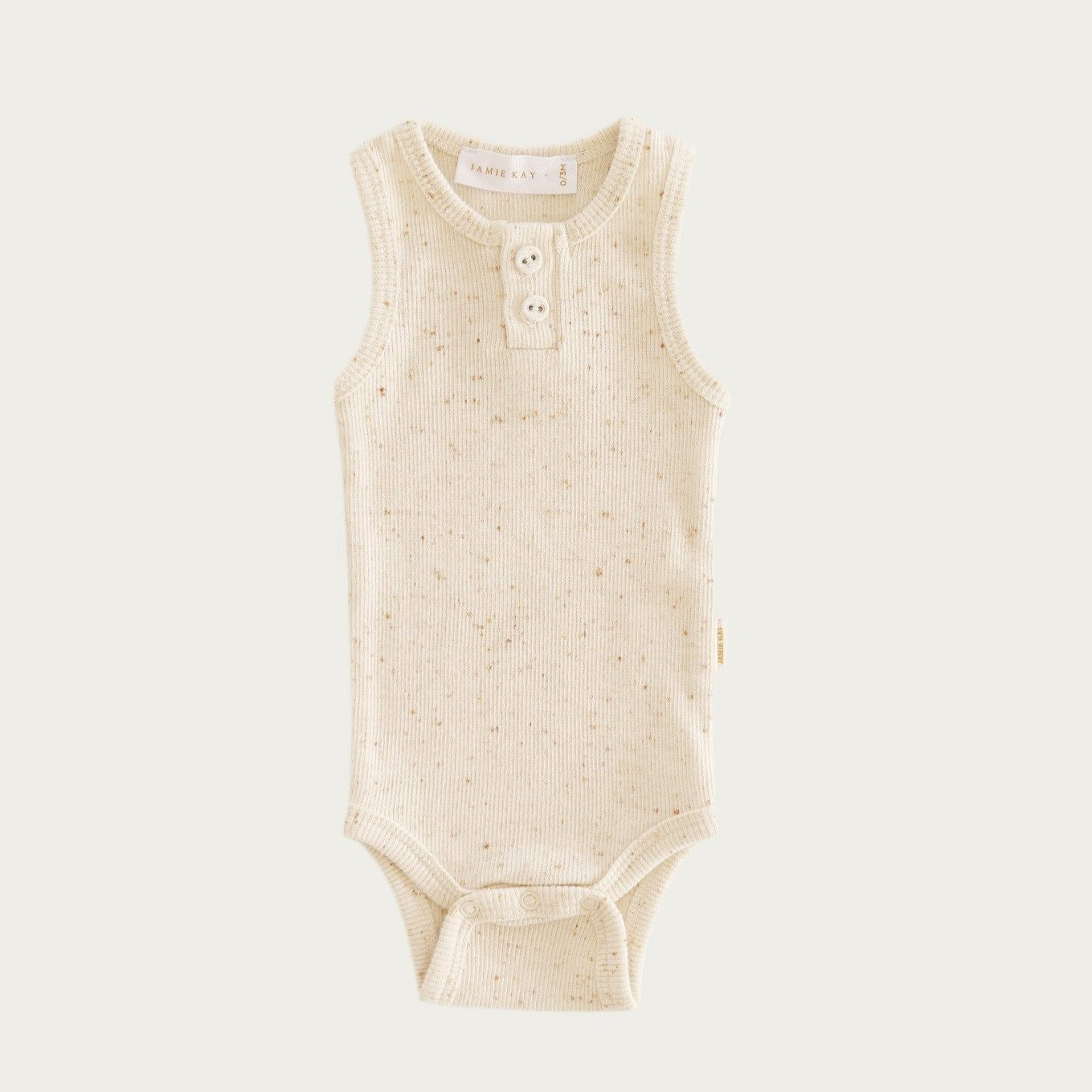 Peachy Ribbed Singlet Bodysuit