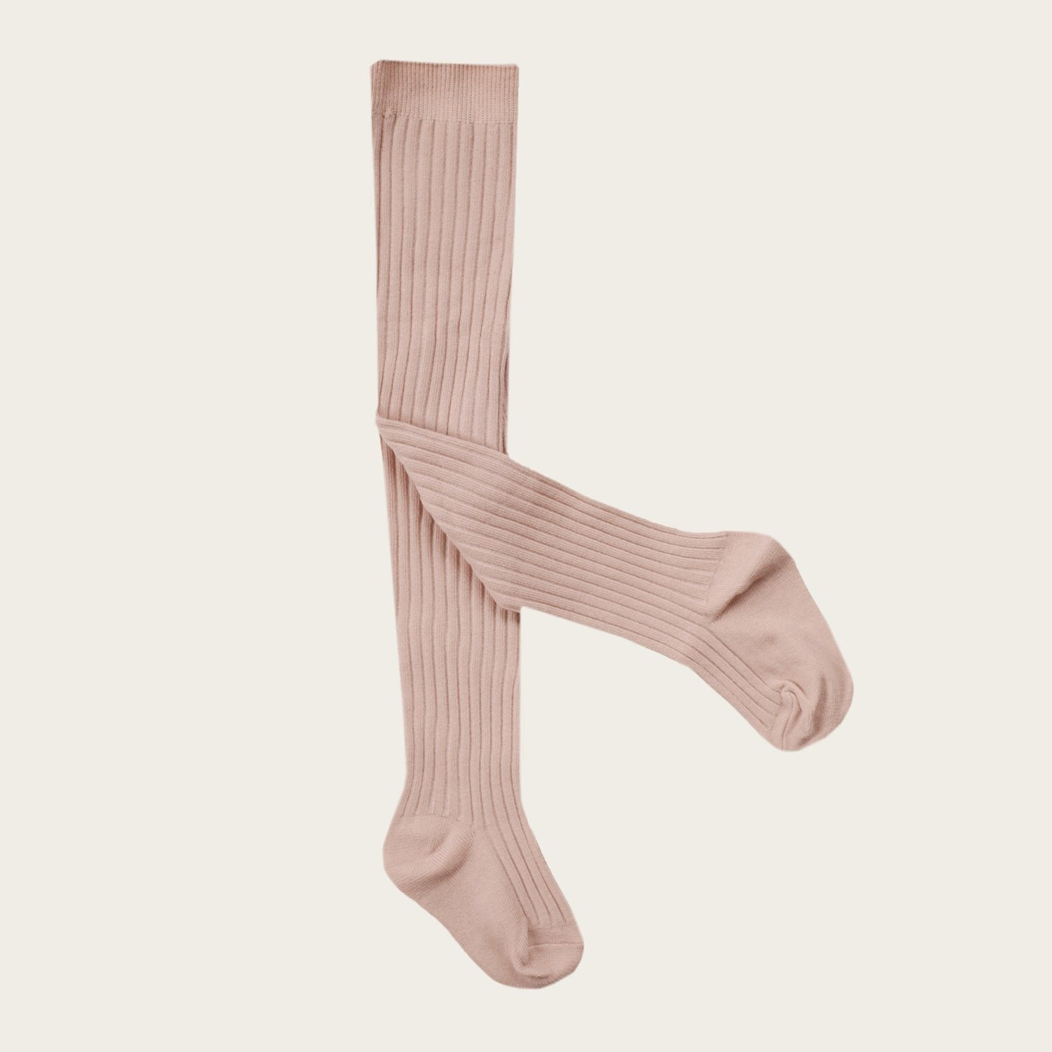 Ribbed Tights (Rose Dust)