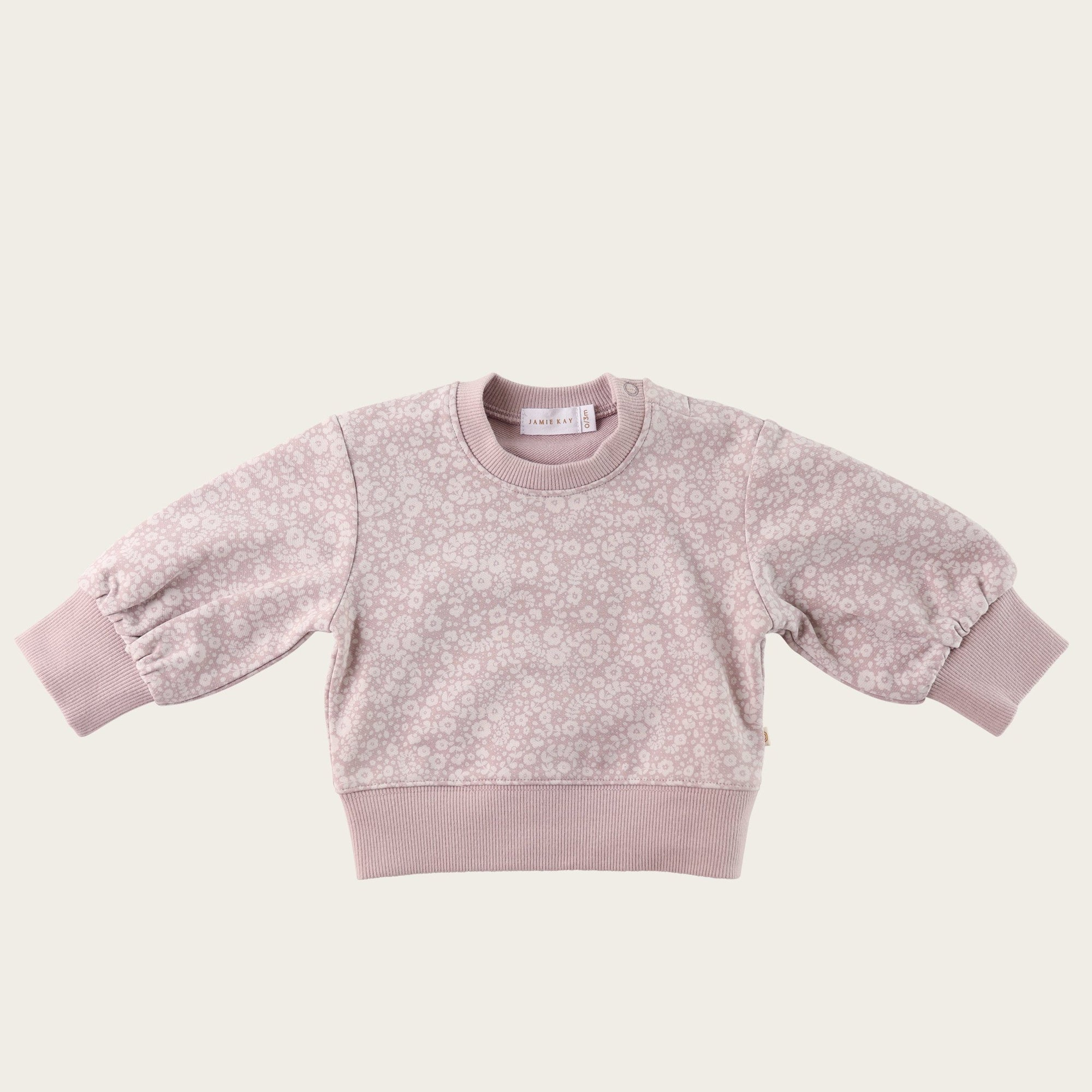 Periwinkle Floral Penny Sweat