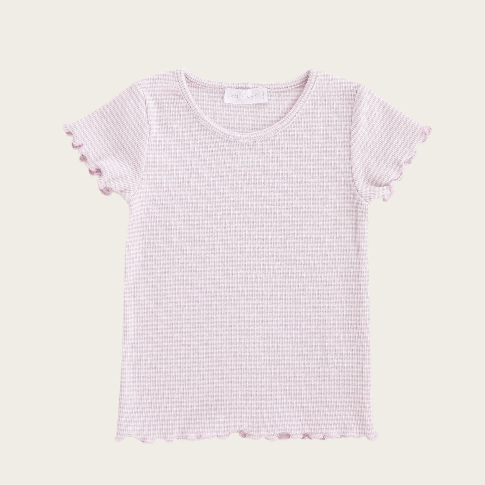Lily Tee (Lavender Stripe)