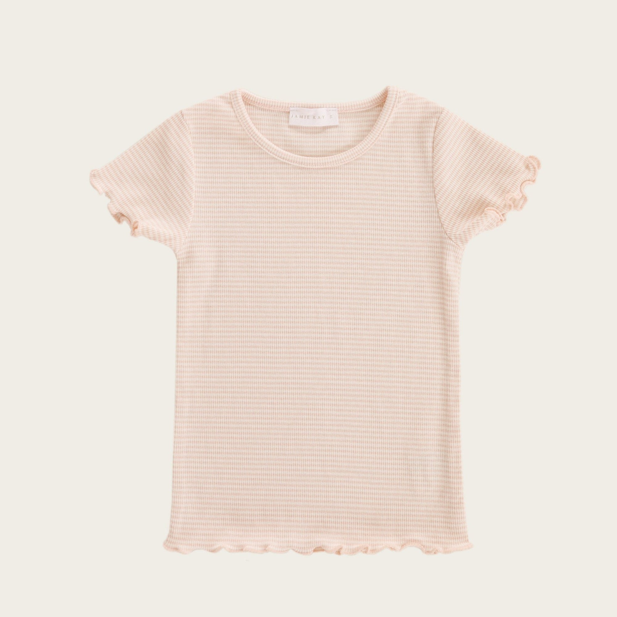 Lily Tee (Peach Stripe)