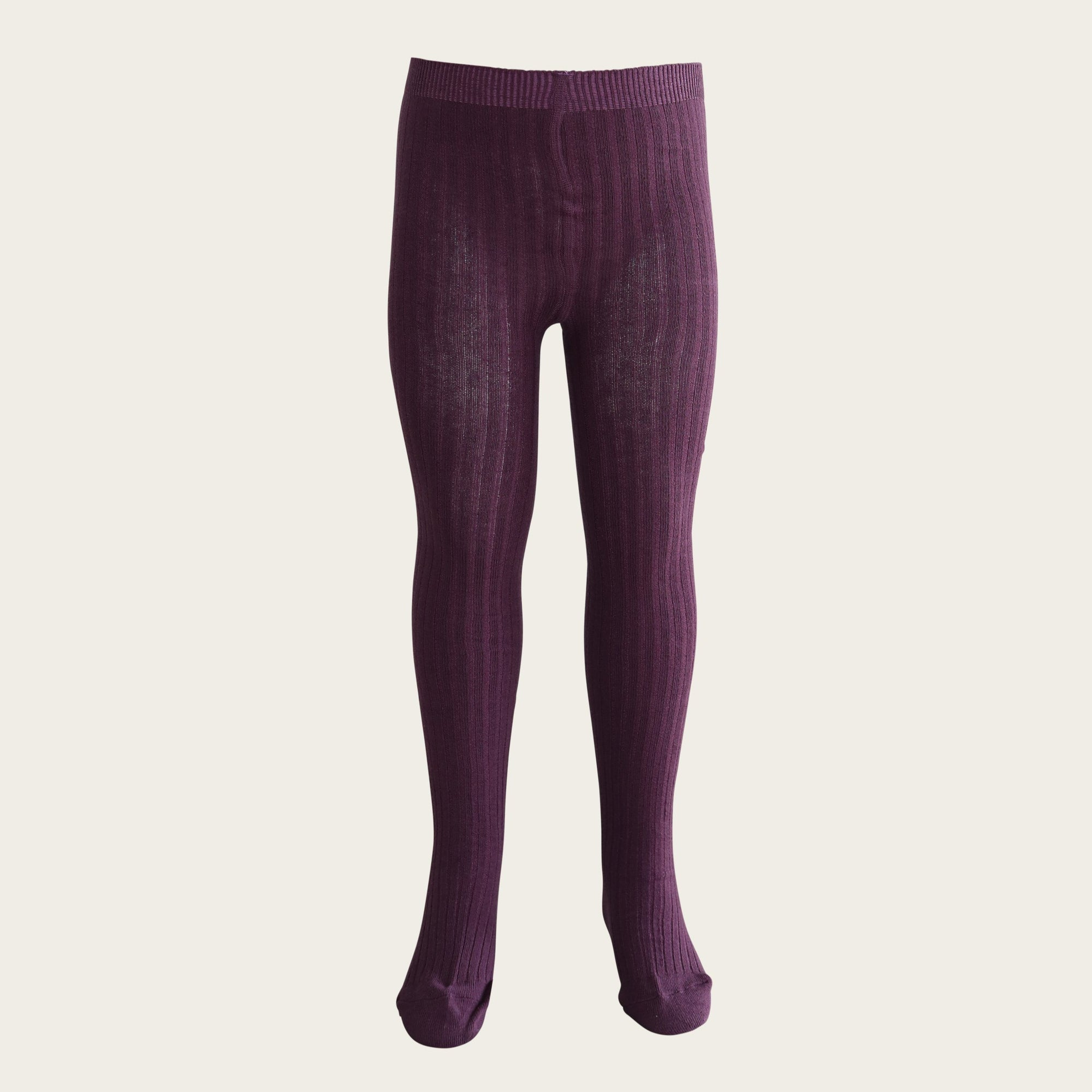 Ribbed Tights (Blackcurrant)