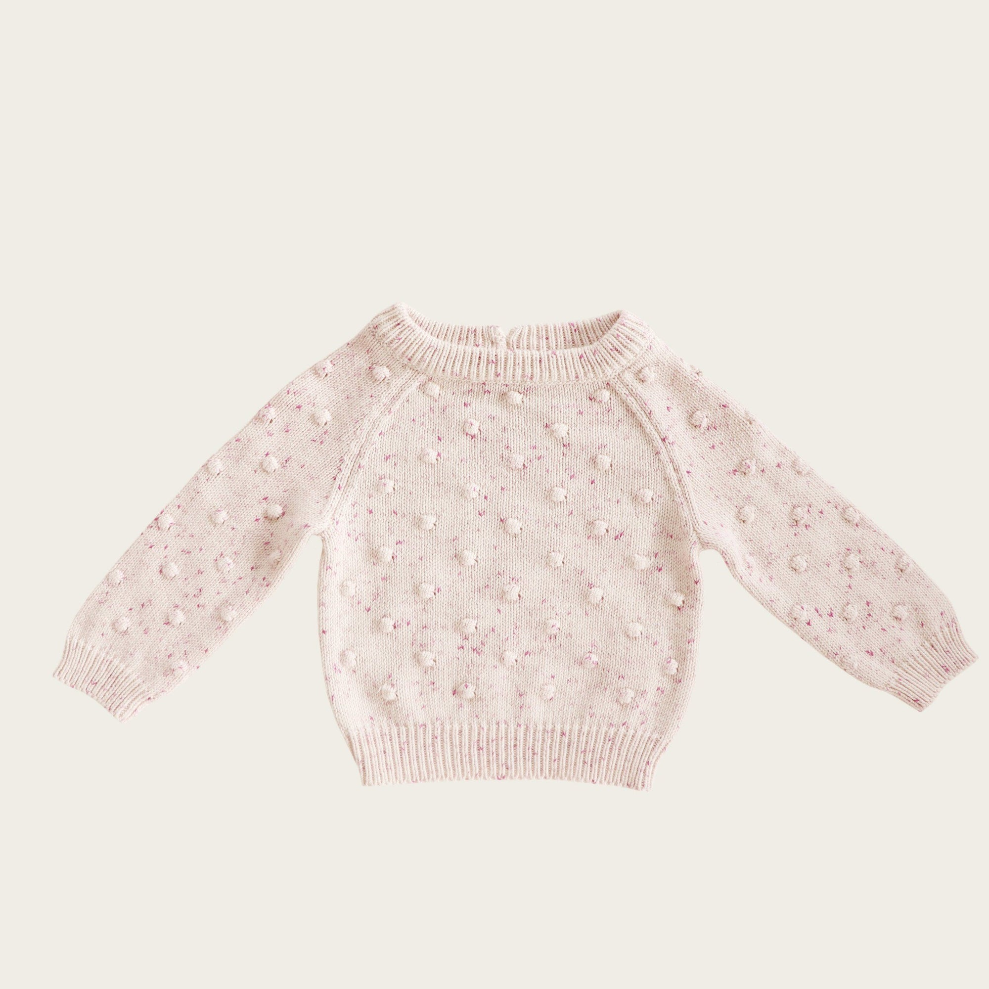 Dotty Knit (Raspberry Fleck)
