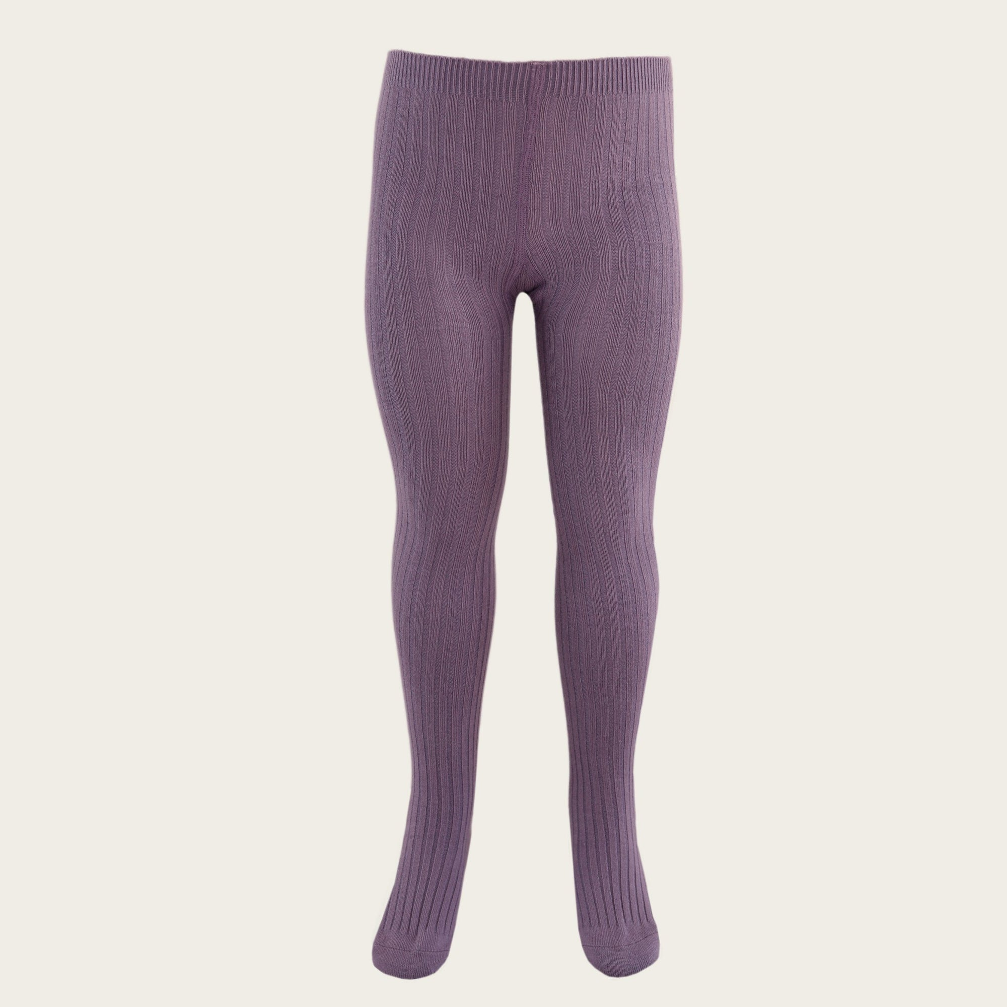 Ribbed Tights (Blueberry)