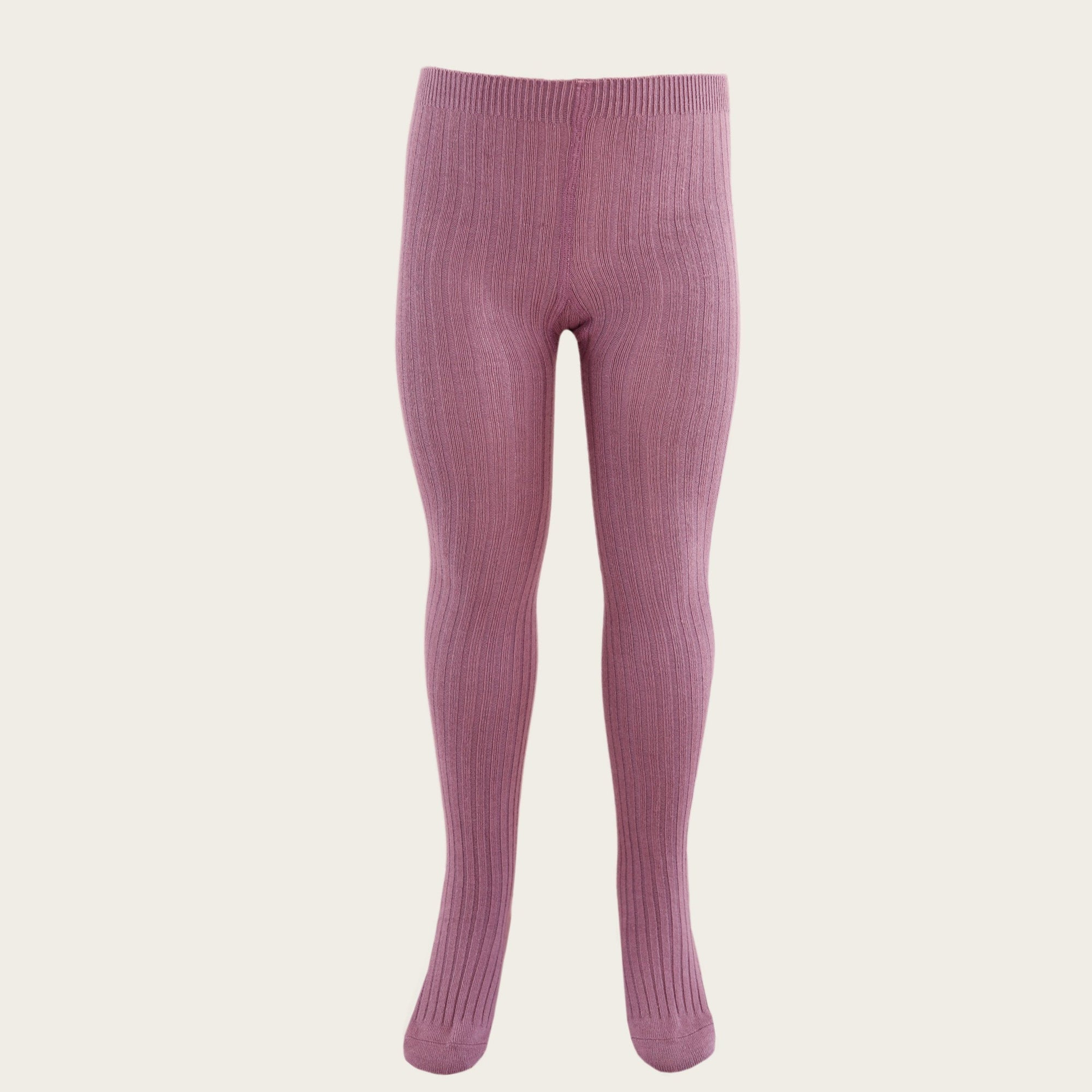 Ribbed Tights (Plum)