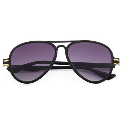 Retro Aviator Sunglasses (Black)