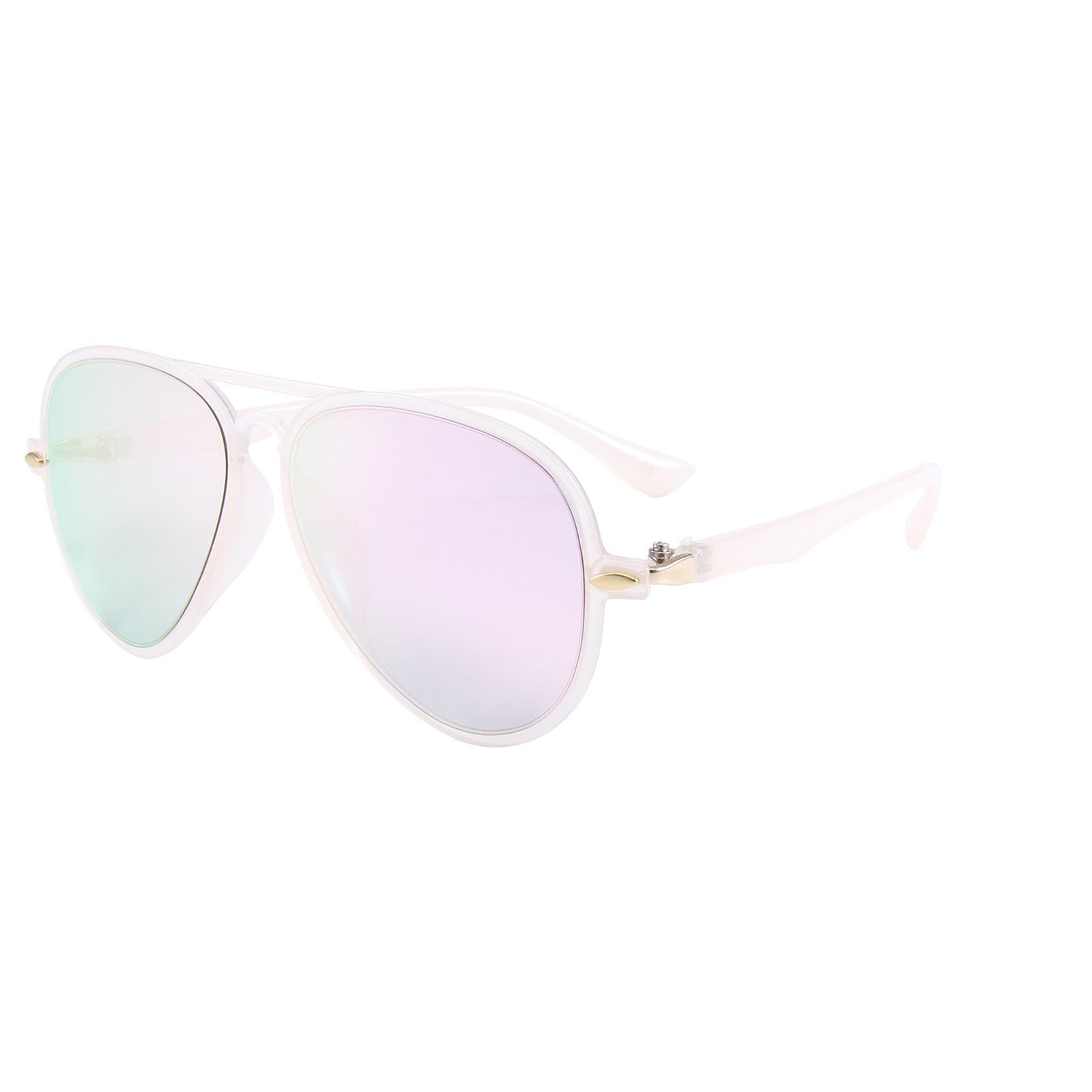 Retro Aviator Sunglasses (Pink)