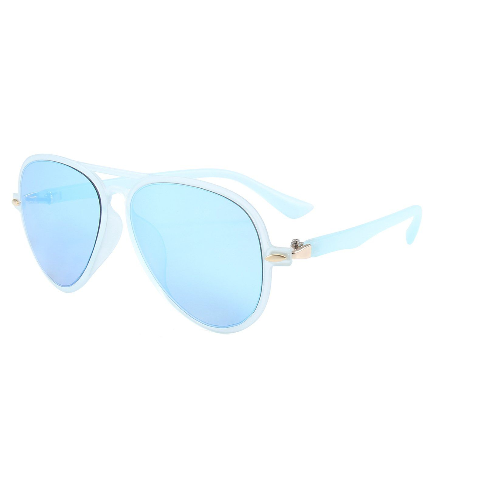 Retro Aviator Sunglasses (Blue)