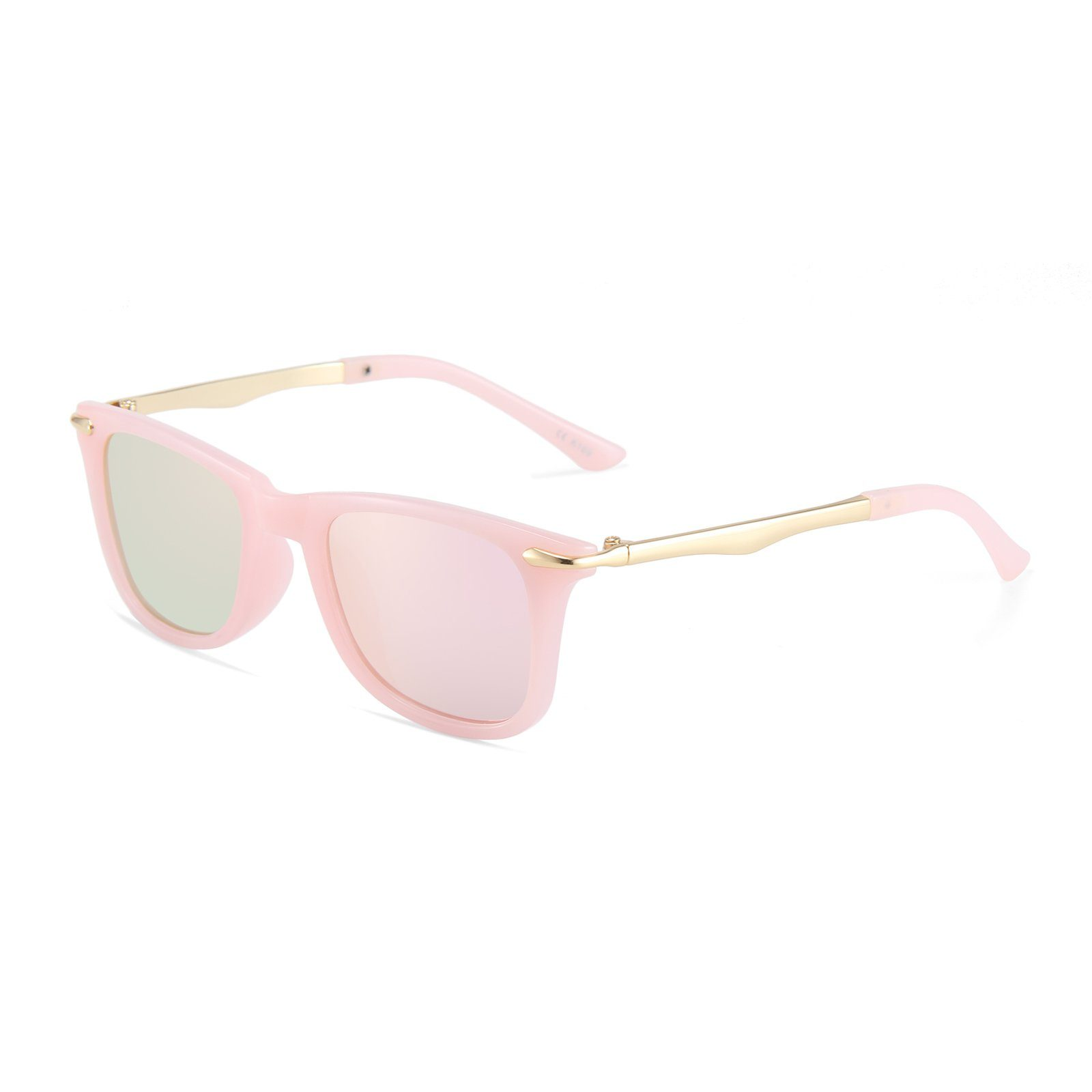 Classic Metallic Sunglasses (Pink)