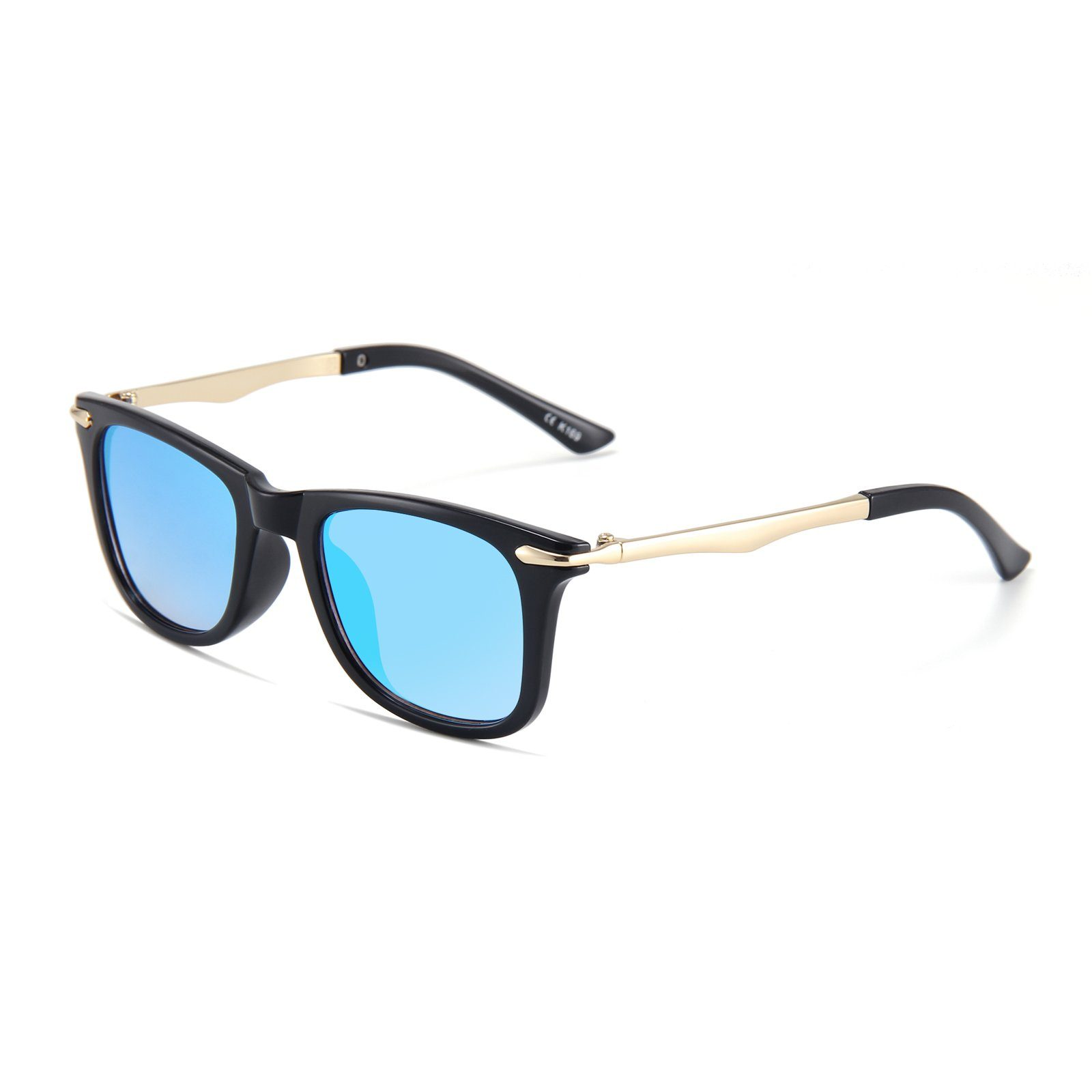 Classic Metallic Sunglasses (Black)