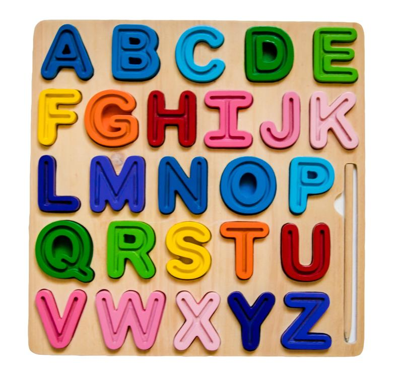 ABC Uppercase Tracing Puzzle
