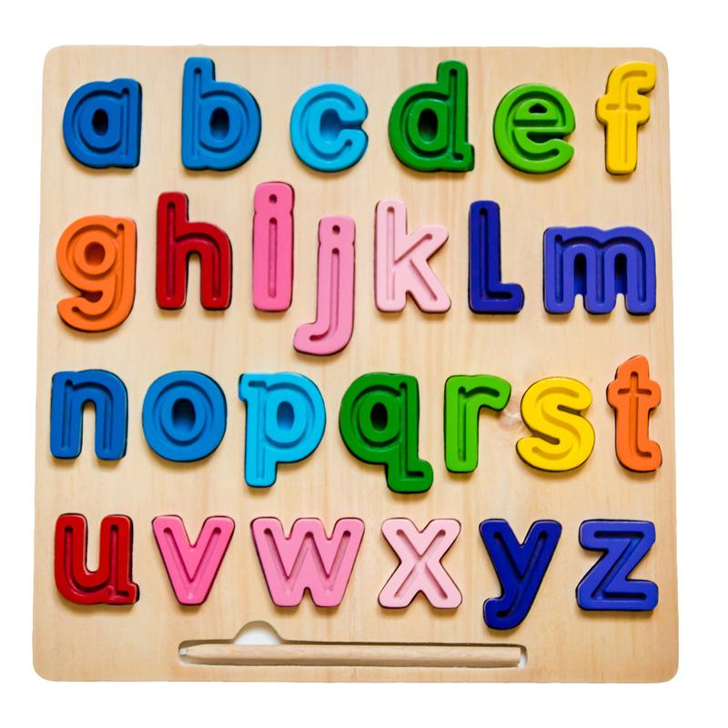 abc Lowercase Tracing Puzzle