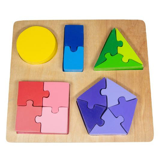 Jigsaw Shape Fraction Puzzle