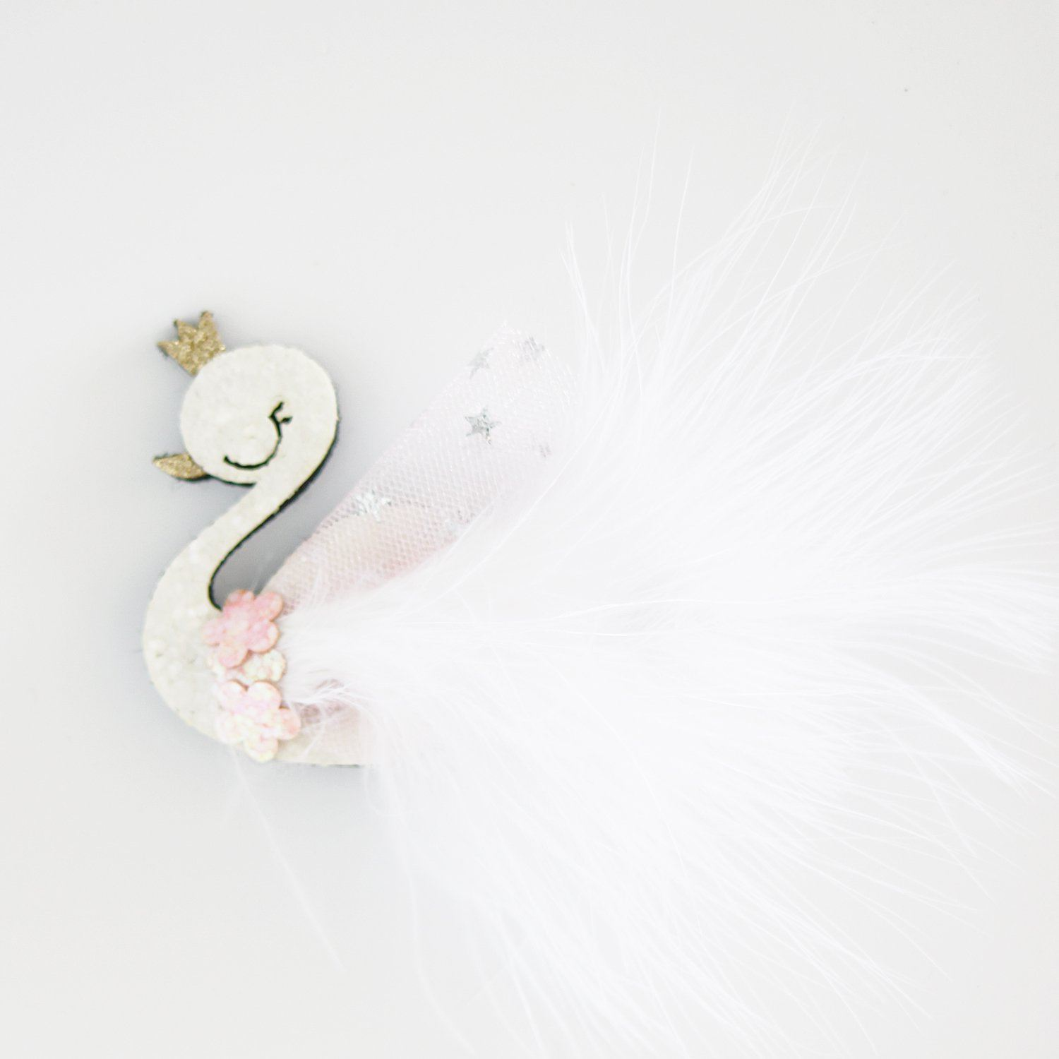 Sleeping Swan Hair Clip