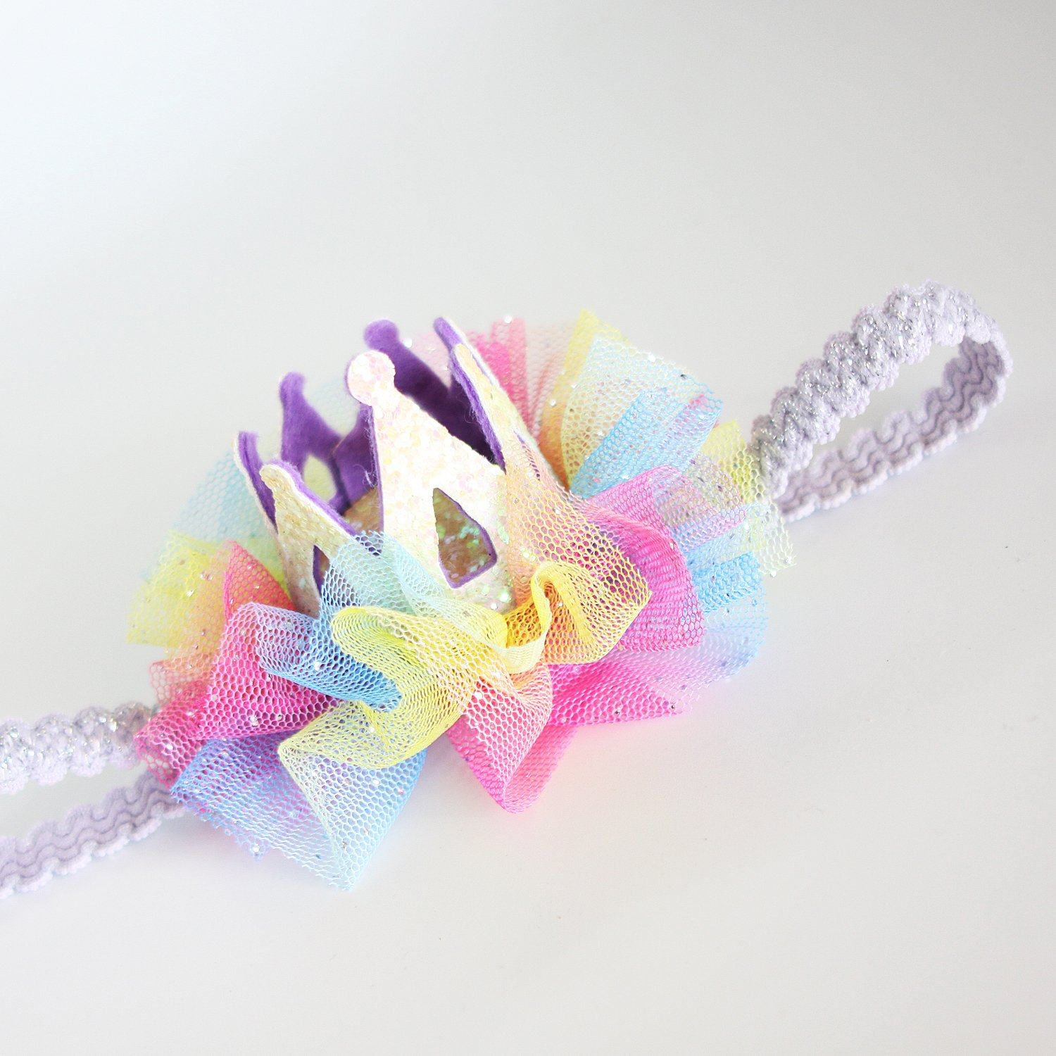 Rainbow Crown Baby Headband